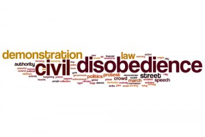Civil disobedience word cloud