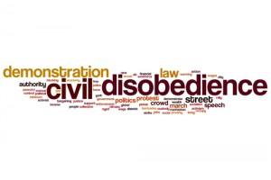Civil disobedience word cloud