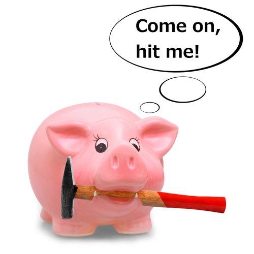 Piggy Bank That You Have To Break