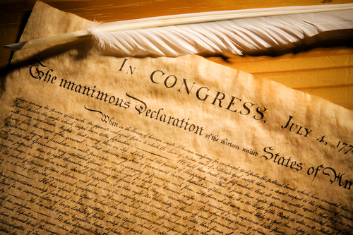 Declaration of Independence - July 4th