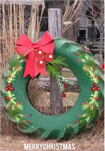 Wreath Tire