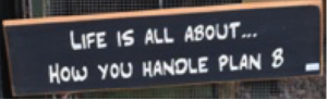 Handle Plan B Sign