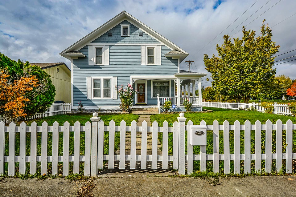 A Nice Little House With White Picket Fence
