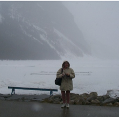 Jo at Lake Louise