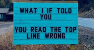 Typo Sign Humor