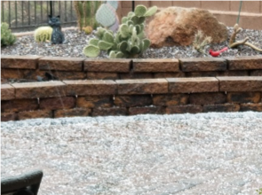 Snow in Arizona - Backyard