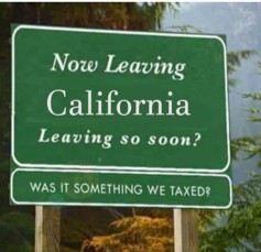 Now Leaving California Sign