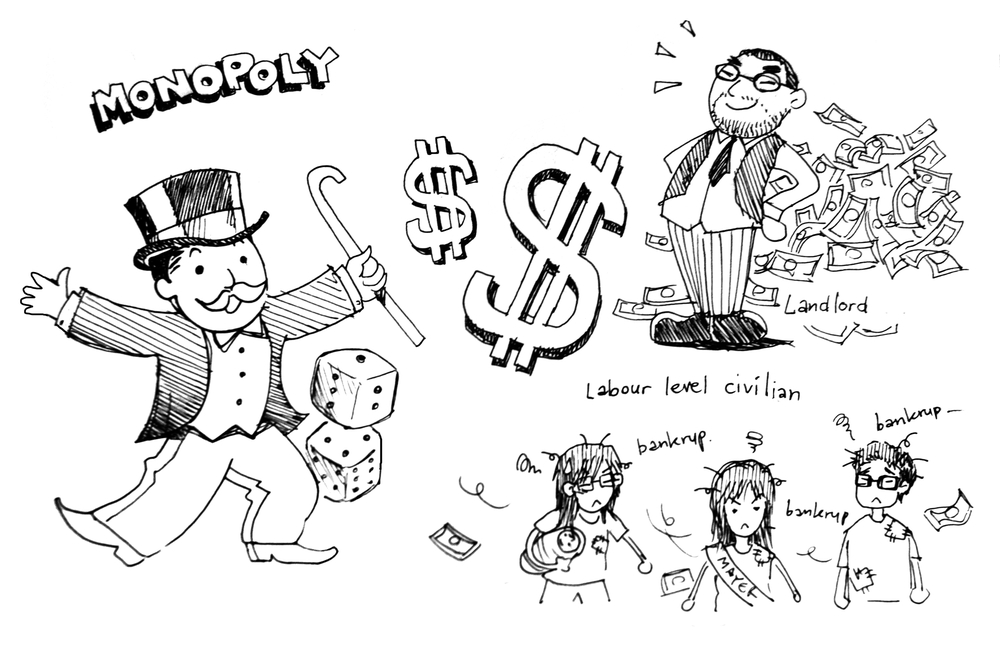 Monopoly editorial comic image