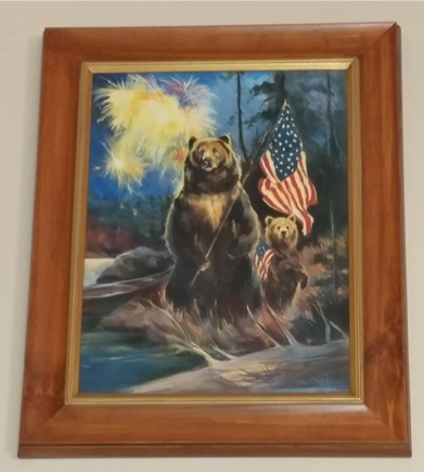Painting of Mother and Baby Bear
