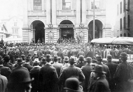 Historic Photograph of a Bank Run