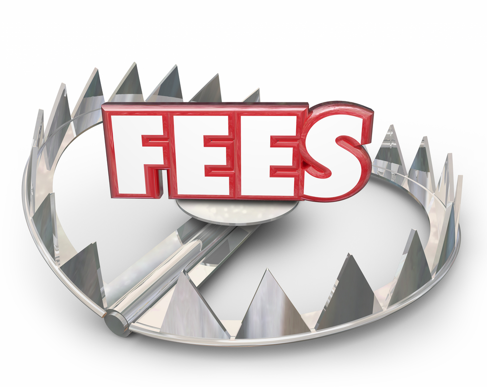 Fees 3d Word Bear Trap Money Interest