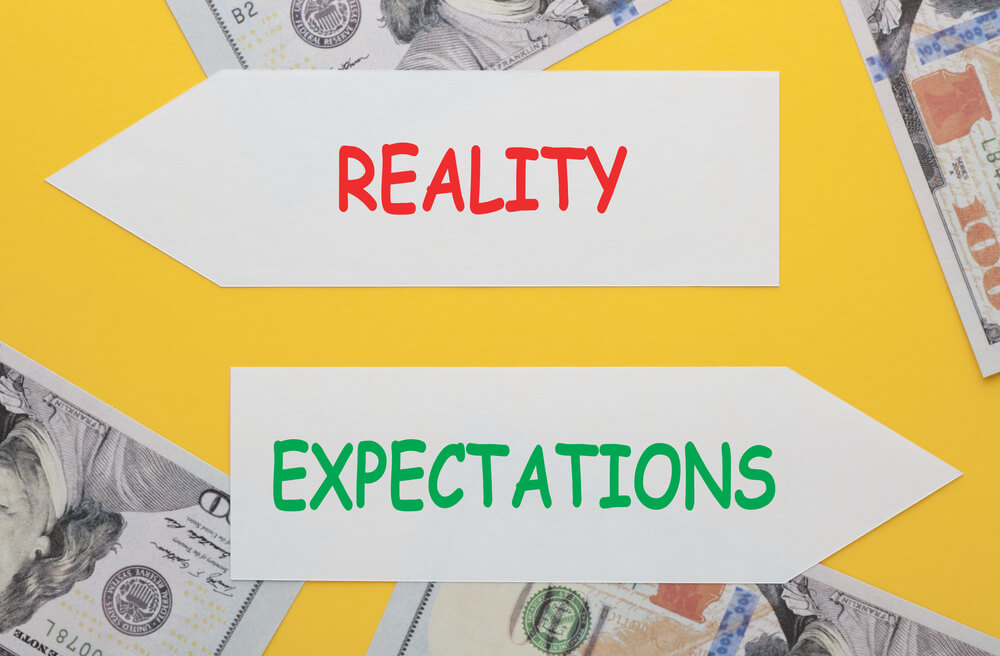 reality vs expectations