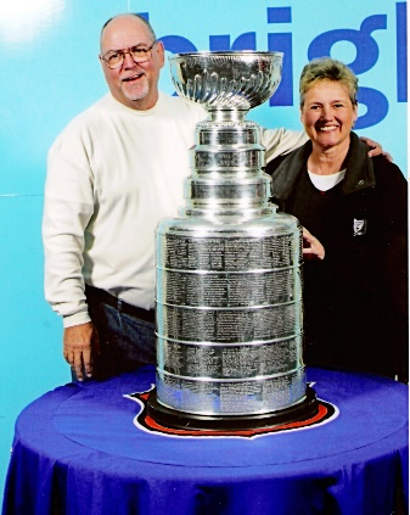 The Millers in 2004 with the Stanley Cup