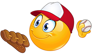 Baseball pitcher emoticon