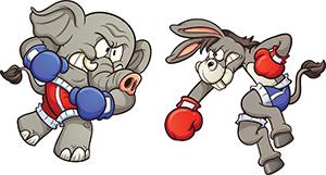 Republicans vs Democrats Cartoon