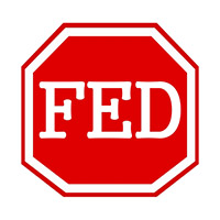 FED white stamp text on red octagon