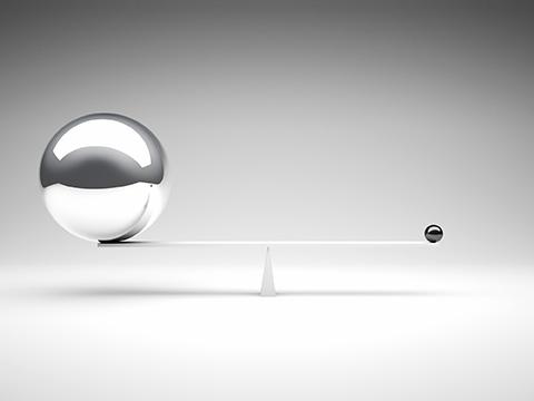 3d image of different balanced balls