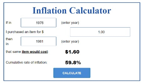 Inflation Rate Calculator
