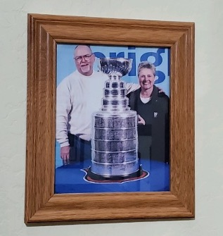 Dennis and Jo Miller with Stanley Cup, 1990s