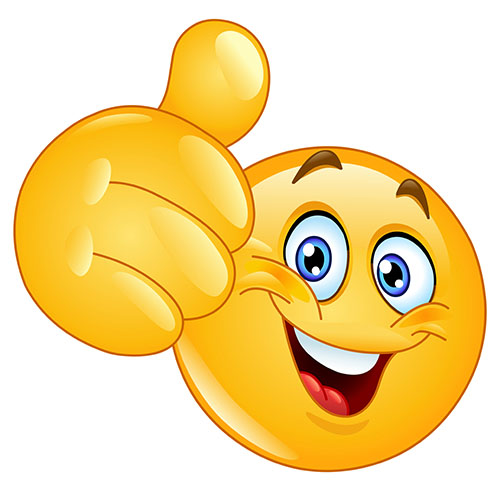 Thumbs up emoticon - It's OK