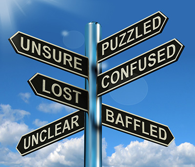 Puzzled Confused Lost Signpost Showing Puzzling Problem - Feel Discombobulated, Confused, Distracted and Betrayed? You Are Not Alone