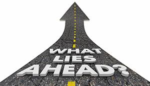 What Lies Ahead Road Future Progress Words 3d Illustration